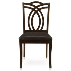 Furniture of America Lafayette Dining Chair in Dark Walnut (Set of 2)