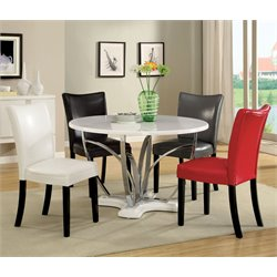 Kelton 5 Piece Dining Set in White
