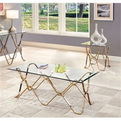 Hobbs Coffee Table Set in Champagne