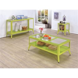 Jaxan Coffee Table Set in Apple Green