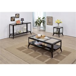 Jaxan Coffee Table Set in Black