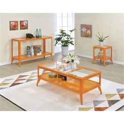 Jaxan Coffee Table Set in Orange