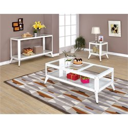 Jaxan Coffee Table Set in White