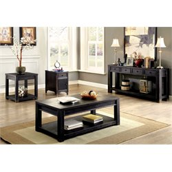 Falima Coffee Table Set in Antique Black