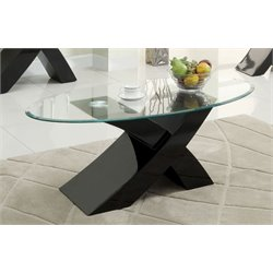 Furniture of America Remington X-Base Coffee Table in Black