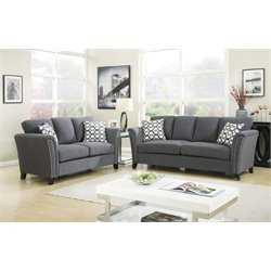 Shirley Sofa Set in Gray
