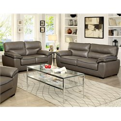 Hayley Sofa Set in Gray