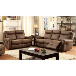Malm Sofa Set in Brown