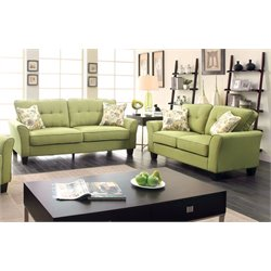 Pryor Sofa Set in Green