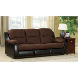 Furniture of America Dentellier Sleeper Sofa in Chocolate and Espresso