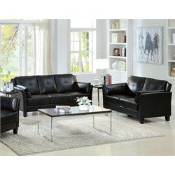 Harrelson Sofa Set in Black