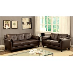 Harrelson Sofa Set in Brown