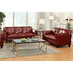 Harrelson Sofa Set in Red
