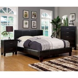 Ramone 3 Piece Bedroom Set in Espresso