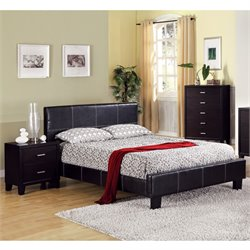 Sentrium 3 Piece Bedroom Set in Espresso