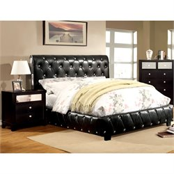 Morella 2 Piece Bedroom Set in Black