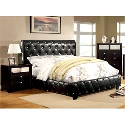 Morella 3 Piece Bedroom Set in Black