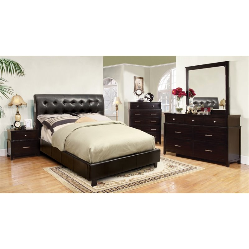 Furniture of america junnie 4 piece california king for Bedroom 4 piece set