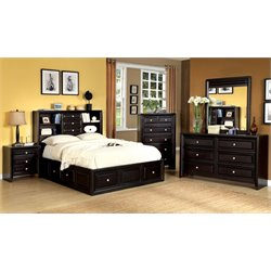 Kaso 4 Piece Bedroom Set in Espresso