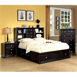 Kaso 3 Piece Bedroom Set in Espresso