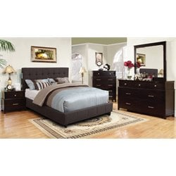 Janata 4 Piece Bedroom Set in Gray
