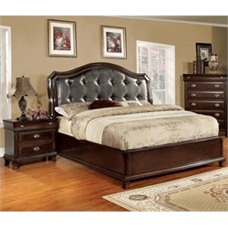 Semptus 2 Piece Bedroom Set in Brown Cherry