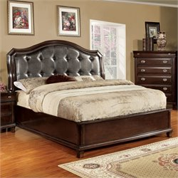 Semptus Bed in Brown Cherry