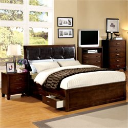 Awenton 2 Piece Bedroom Set in Brown Cherry