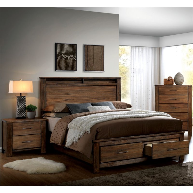 Furniture of america nangetti 3 piece california king for 3 bedroom set