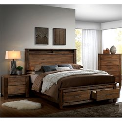 Nangetti 3 Piece Bedroom Set in Oak