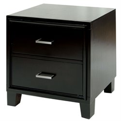 Furniture of America Muscett 2 Drawer Nightstand in Espresso