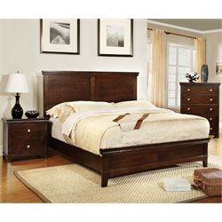 Fanquite 3 Piece Bedroom Set in Brown Cherry