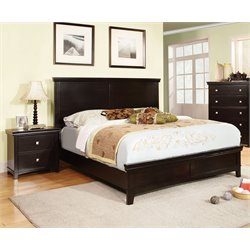 Fanquite 2 Piece Bedroom Set in Espresso