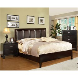 Cruzina 3 Piece Bedroom Set in Espresso