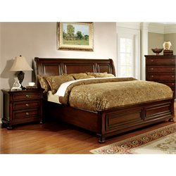 Caiden 2 Piece Bedroom Set in Espresso