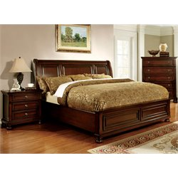 Caiden 3 Piece Bedroom Set in Espresso