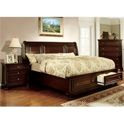 Caiden 2 Piece Bedroom Set in Dark Cherry