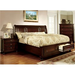 Caiden 3 Piece Bedroom Set in Dark Cherry