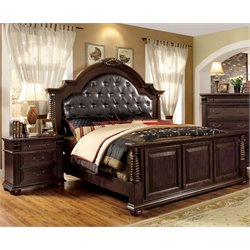 Catherine 2 Piece Bedroom Set in Brown Cherry