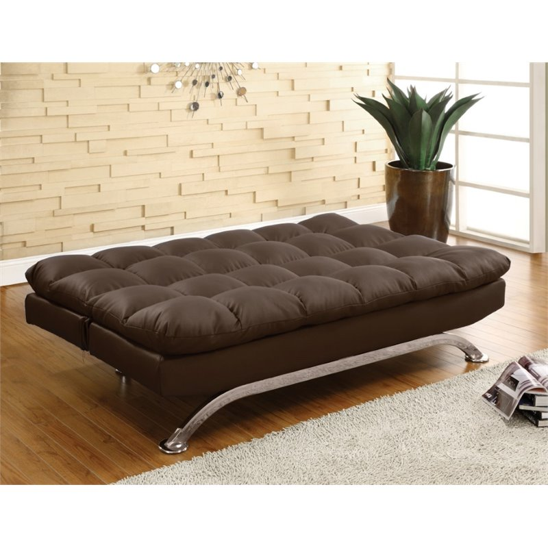 Furniture Of America Moore Faux Leather Sleeper Sofa Bed