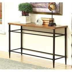 Furniture of America Vinci Console Table in Light Oak