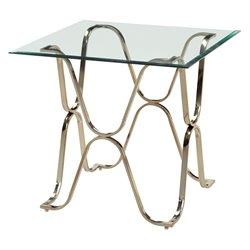 Hobbs Square Glass Top End Table