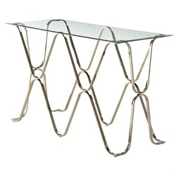 Hobbs Glass Top Console Table