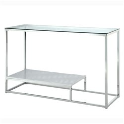Nadia Glass Top Console Table