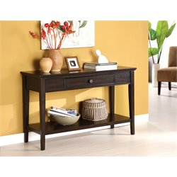 Furniture of America Allain Modern Console Table in Dark Walnut