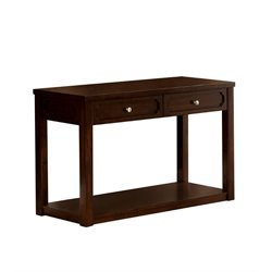 Furniture of America Oscar Console Table in Brown Cherry