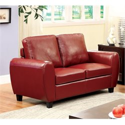Parvi Leather Loveseat