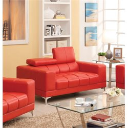 Kalzetta Leather Upholstered Loveseat
