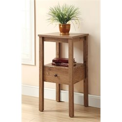 Dykes Square 1 Drawer End Table