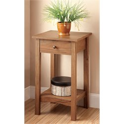 Cavazos Square 1 Drawer End Table